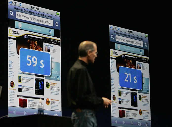 Jobs presenta el iPhone 3G - ¡Es la velocidad!