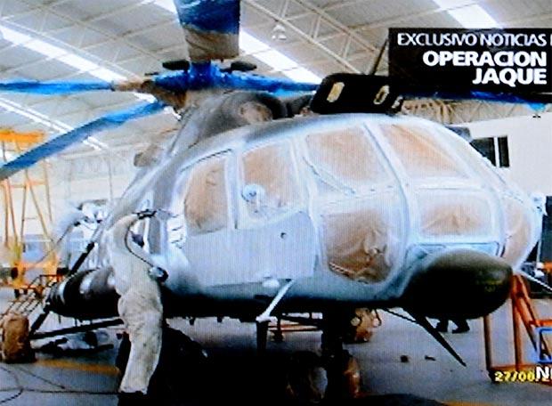 La Operación Jaque por dentro - El helicóptero de camuflaje