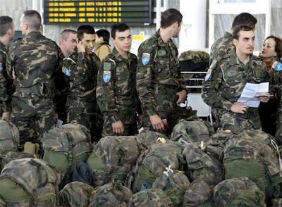 Tropas enviadas por el Gobierno al infierzo de Afganistán.
