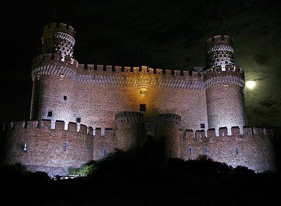 Iluminación virtual del Castillo de Manzanares el Real