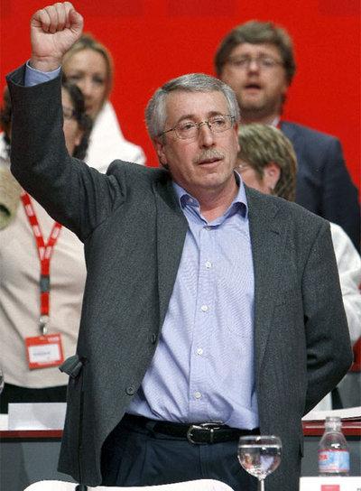 Ignacio Fernández Toxo, en el congreso de CC OO que le ha elegido nuevo secretario general- EFE
