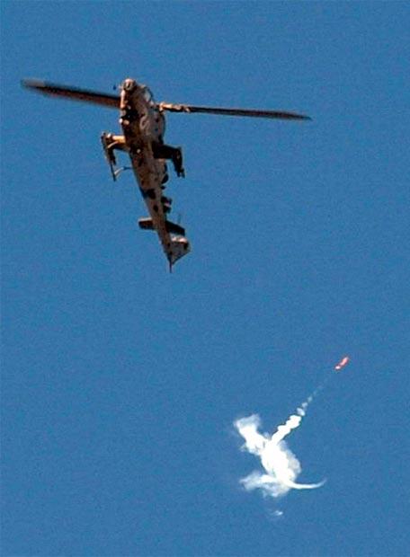 Helicóptero israelí