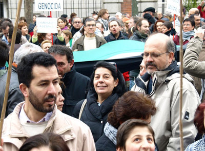 protesrtas ante la embajada israelí