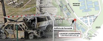 Ubicación y resultado del atentado de ETA