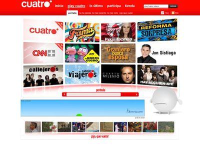 Play Cuatro, el nuevo servicio de televisión de Cuatro en Internet, permite seguir su programación en directo.