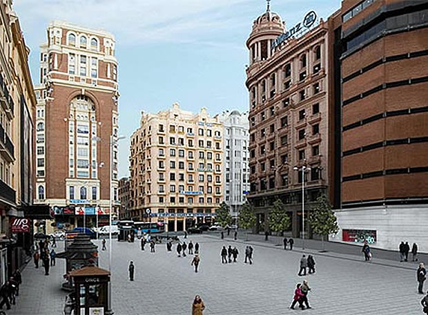 Callao, una plaza de secano gracias al urbanismo 'Made in Madrid'