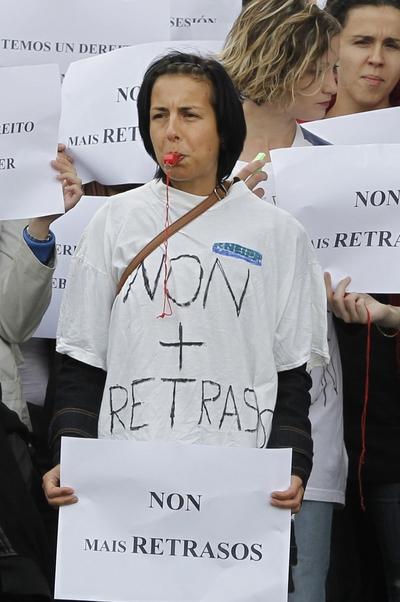 Protesta de opositores