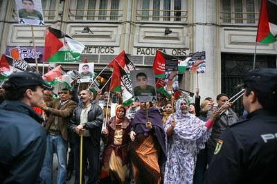 Protesta ante el consulado de Marruecos en Valencia