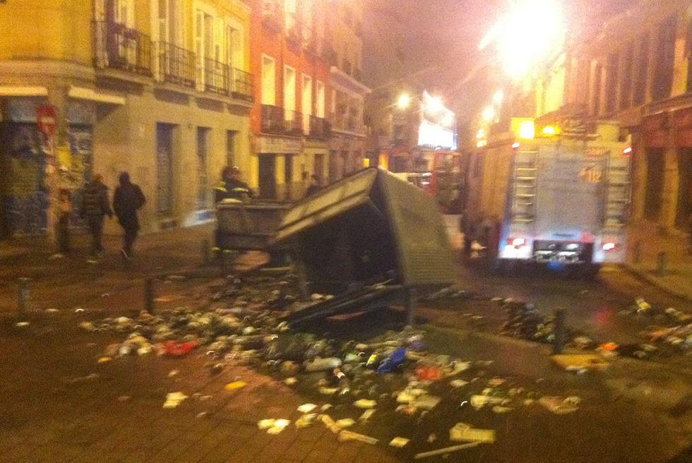 Disturbios en Madrid en protesta por la reforma de las pensiones