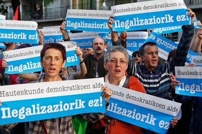 Manifestantes en Bilbao piden la legalización de Bildu
