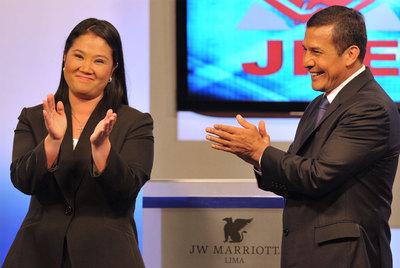 Keiko Fujimori y Ollanta Humala