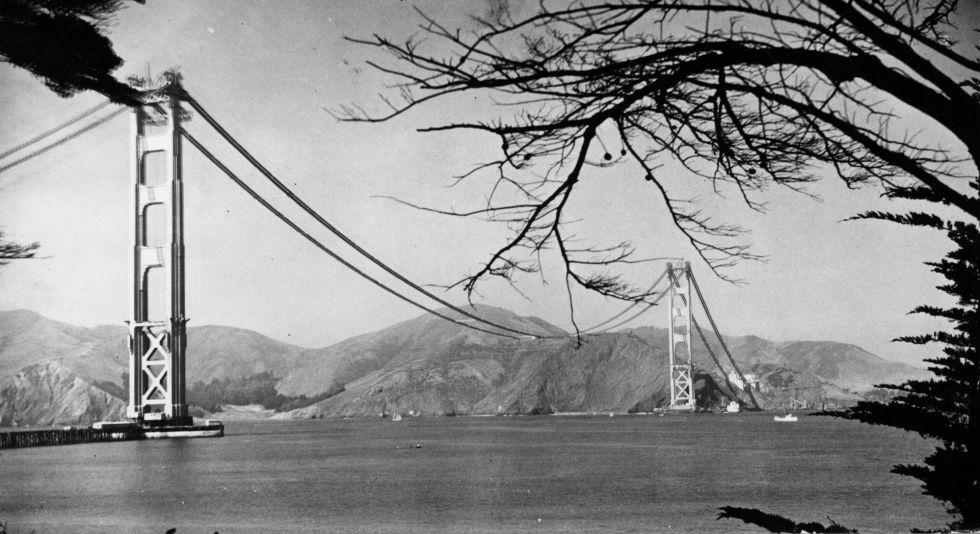 Golden Gate Bridge sin el tablero