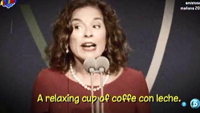 Resultado de imagen de alcaldesa de madrid ana botella relaxing cup of café con leche