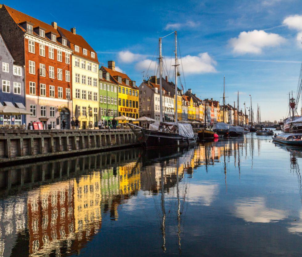 El paseo marítimo de Nyhavn, en Copenhague