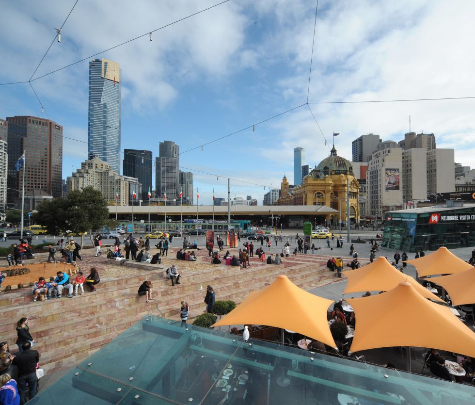 Federation Square en Melbourne.