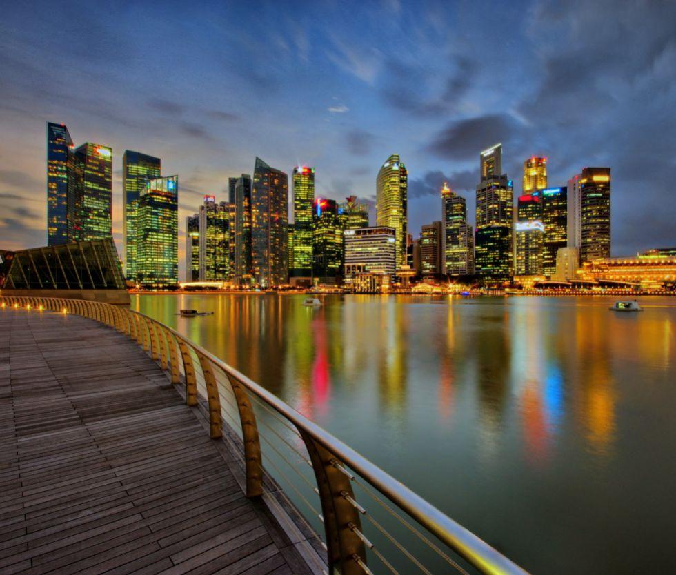 Vista del 'skyline' de Singapur.