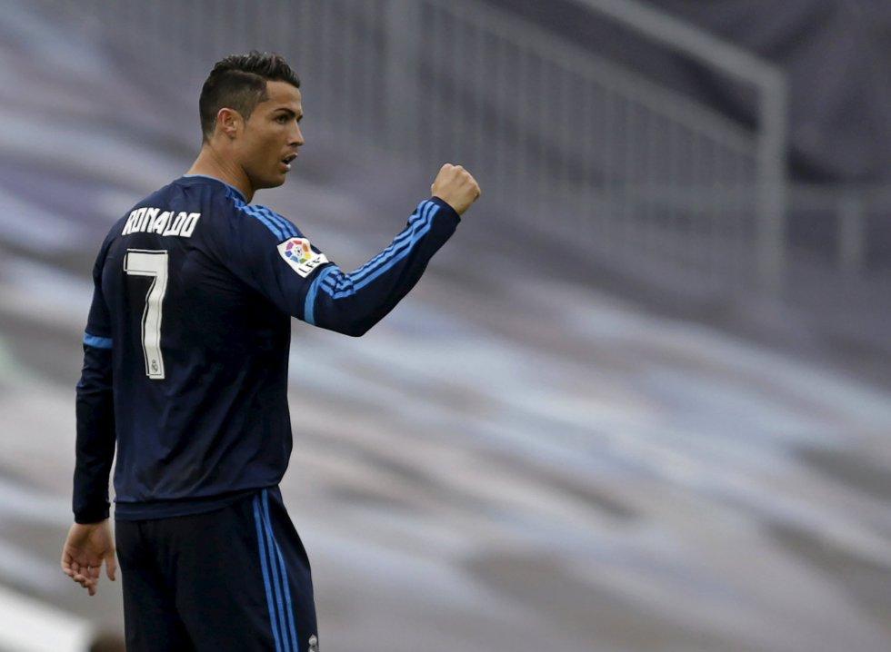 Cristiano Ronaldo celebra su gol en Balaídos