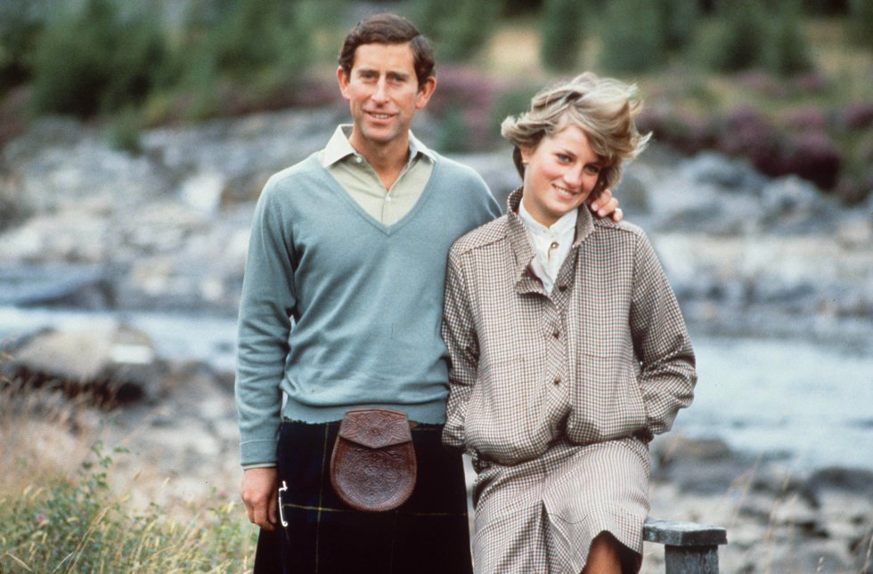 La primera foto de la pareja tomada en 1981, en Escocia.