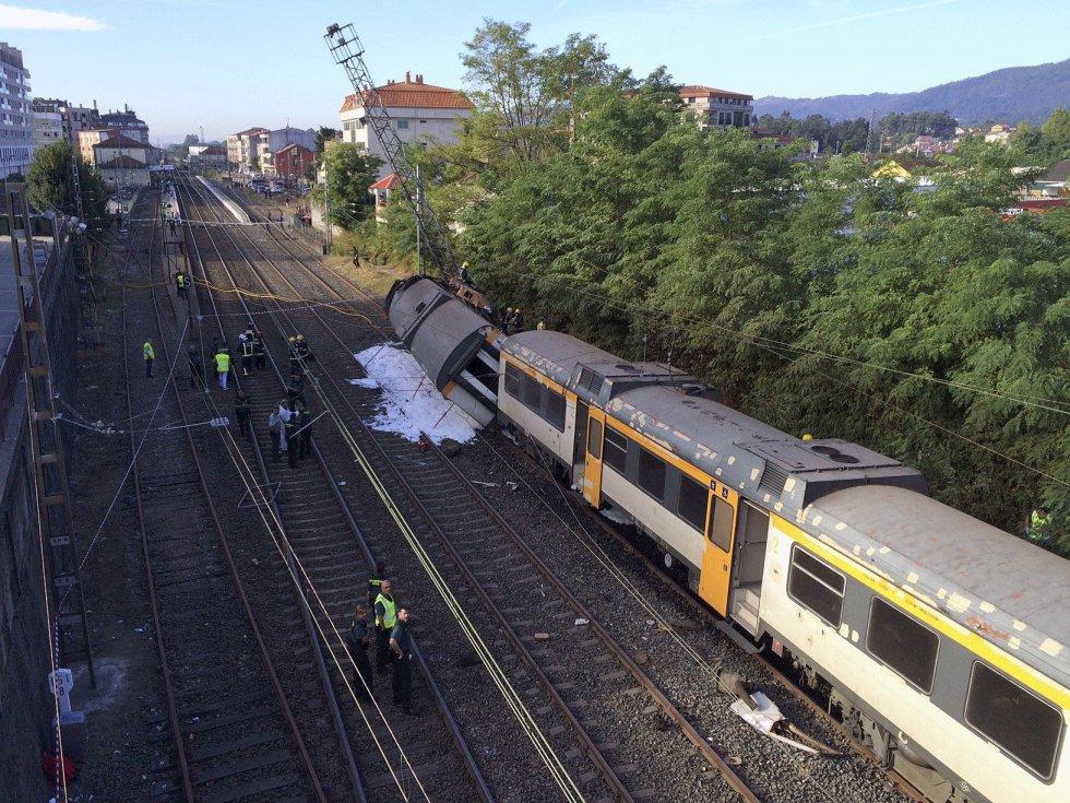 Accidente ferroviario en O Porriño (Pontevedra).