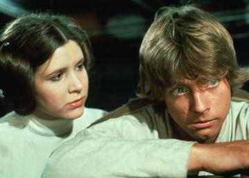 Luke Skywalker se despide de la princesa Leia