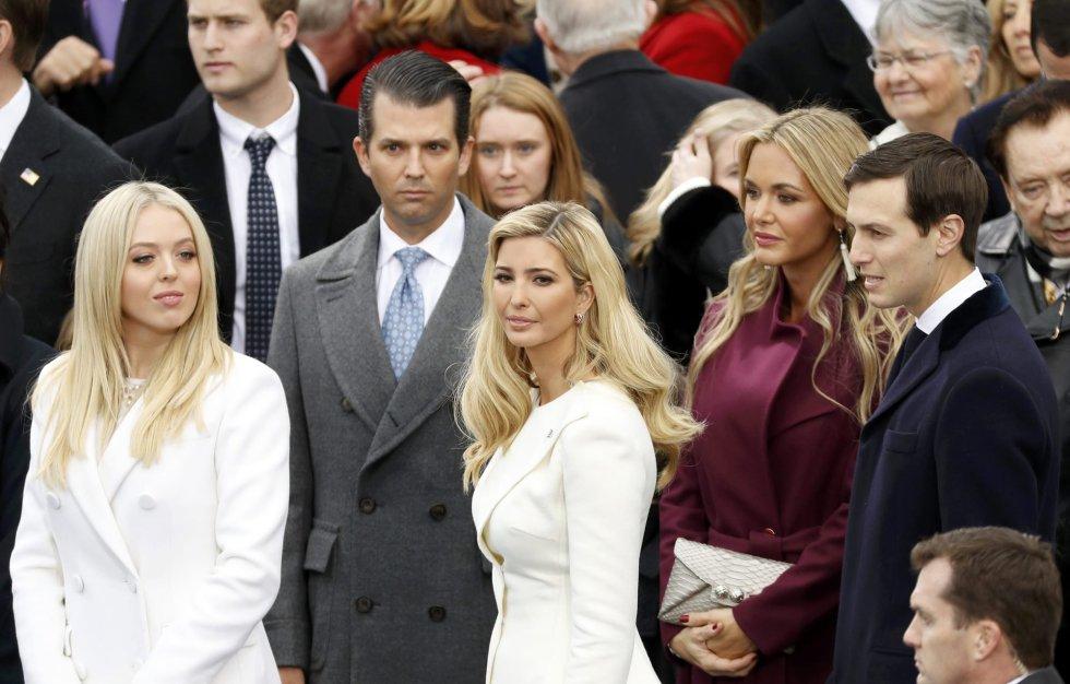 Tiffany Trump, Donald Trump Jr, Ivanka Trump e Jared Kushner, filhos de Donald Trump.