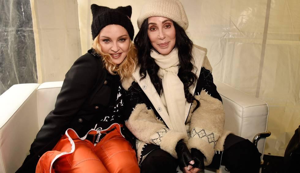 Los mensajes de Madonna y otras celebridades en la marcha contra Trump