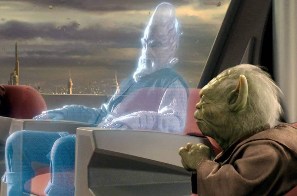"""La saga creada por George Lucas presenta cientos de avances tecnológicos futuristas. No, el sable láser todavía no está aquí, pequeño padawan , pero hay otros muchos elementos que se han ido materializando. """"Ayúdame Obi-Wan Kenobi, eres mi única esperanza"""", repetía una y otra vez la carismática Princesa Leia en un holograma que reproducía R2-D2. Esto ya se puede hacer de verdad. No solo reproducir hologramas, sino comunicarse a través de ellos, como ocurría en el consejo Jedi de la segunda trilogía. Las conferencias de prensa holográficas , por ejemplo, son reales desde 2015. También los brazos biónicos , tan apreciados en la familia Skywalker."""