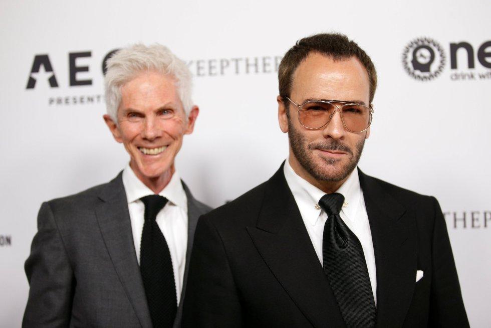 El diseñador Tom Ford y su marido Richard Buckley a su llegada a la gala.