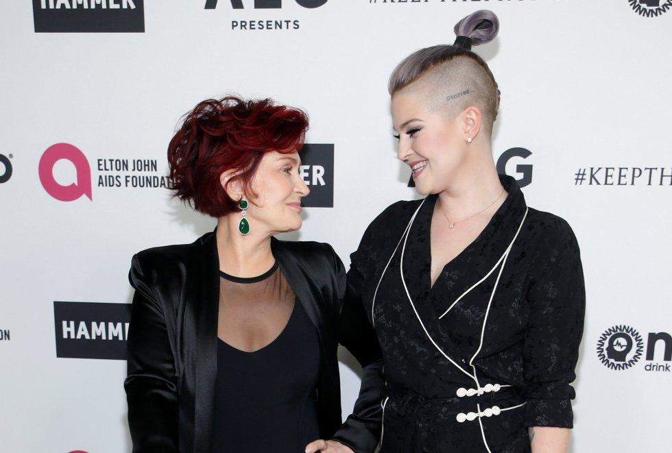 Sharon Osbourne y su hija Kelly Osbourne .