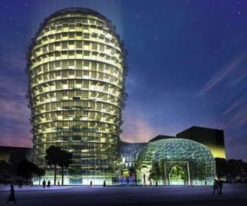 De igual manera a su inspiración vegetal, el Cactus Sprouts Hotel de Doha (Catar), uno de los múltiples ejemplos de arquitectura biomimética, regula su temperatura. Las persianas inteligentes que protegen sus ventanas dejan pasar más o menos luz solar en función de la temperatura exterior para mantener un ambiente térmico adecuado. El edificio, pensado para adaptarse al clima desértico catarí, convierte además el CO2 en oxígeno gracias a una bóveda repleta de vegetación y acredita huella de carbono cero, además de tener sistemas de reciclaje de agua y abastecerse de energía fotovoltaica.