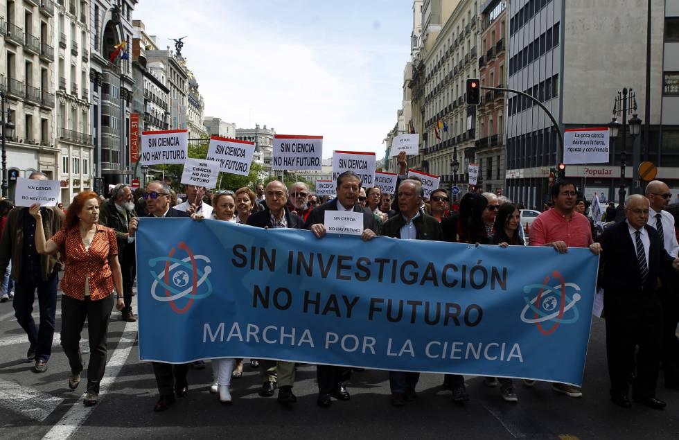 Los científicos se movilizan en España por el respeto a los hechos
