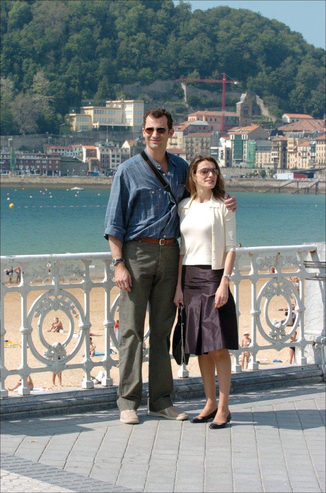 Otro de los destinos de su luna de miel fue San Sebastián. Los recién casados comieron en el restaurante Arzak y más tarde dieron un paseo por la playa de La Concha.