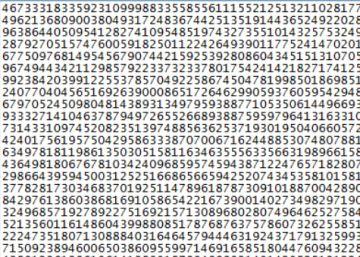 Descubierto el número primo más largo, con 23 millones de cifras