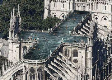 Desde un bosque a una piscina: 12 propuestas de arquitectos para reconstruir Notre Dame