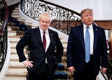 """Trump promete a Johnson un acuerdo comercial """"bastante rápido"""" tras el Brexit"""