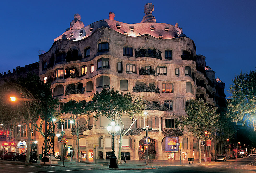 Casa Milá, La Pedrera, en Barcelona.