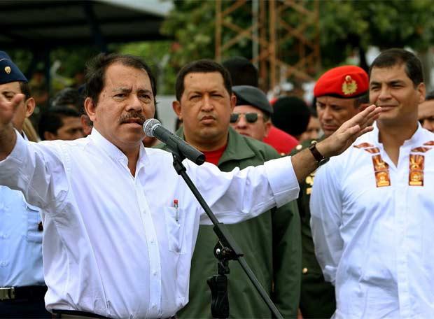 Ortega, Chávez y Correa, por la unidad latinoamericana