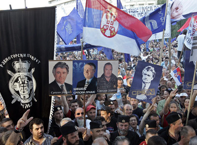 Choques entre seguidores de Karadzic y la policía