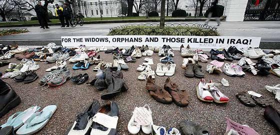 La protesta de los zapatos