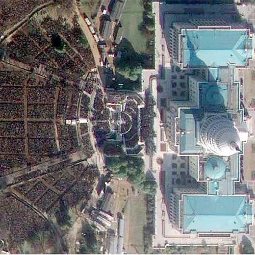 Un satélite capta imágenes de la toma de posesión del nuevo presidente de EE UU