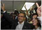 Celebraciones en la calle de seguidores del FMLN
