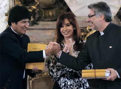 Firma del acuerdo limítrofe entre Bolivia y Paraguay