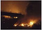 Explosión de un tren cargado de gas en Italia