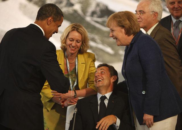 Cumbre del G-8 en L'Aquila  - Distensión previa a la cumbre