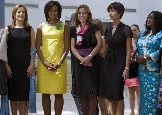 Cumbre del G-8 en L'Aquila  - Las primeras damas