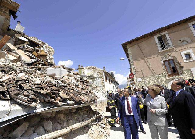 Cumbre del G-8 en L'Aquila  - Un terromoto fatal
