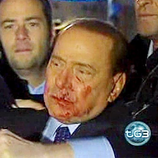 Berlusconi, agredido a la salida de un mitin
