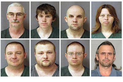 Las fotos de los detenidos por el FBI.- AP