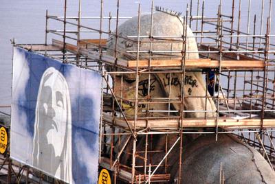 El Cristo de Río, en restauración