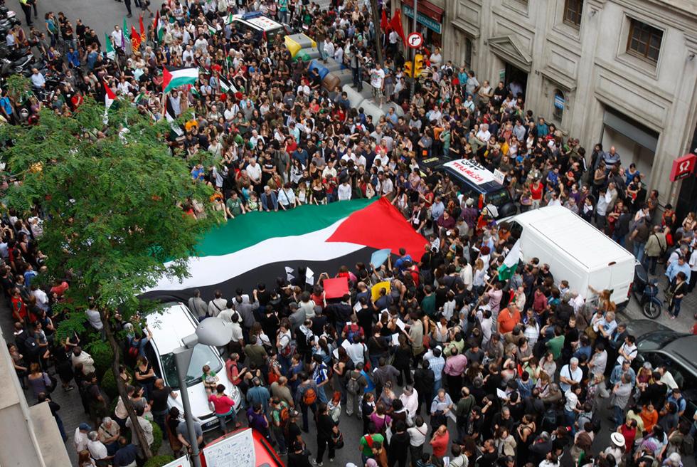 Manifestaciones contra el ataque israelí  - Manifestación